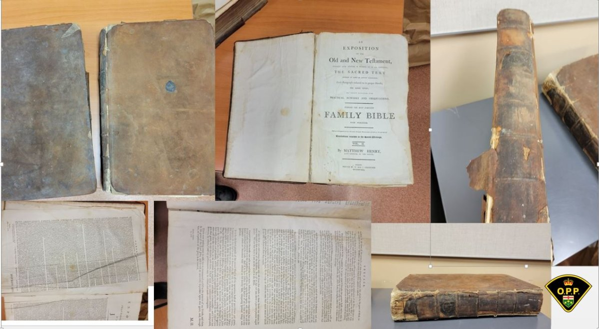 Lennox and Addington OPP say the owner of two historic texts from the 1700s have been claimed.