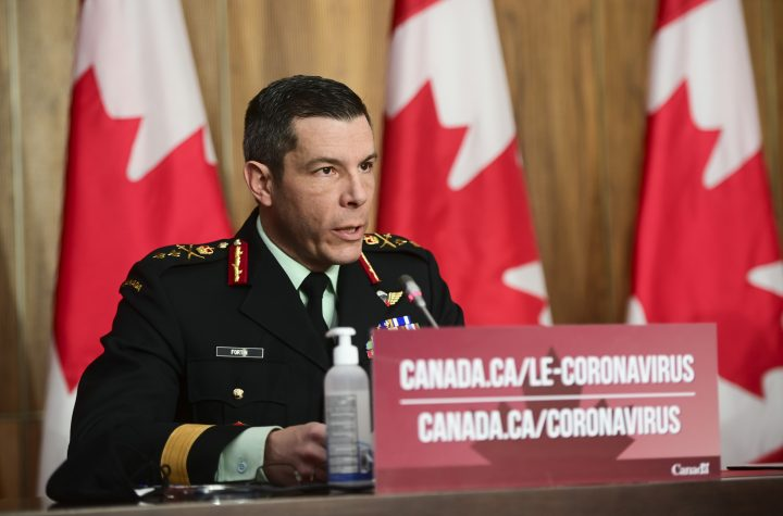General Dany Fortin provides an update on the COVID-19 pandemic in Ottawa on Friday, Jan. 8, 2021.