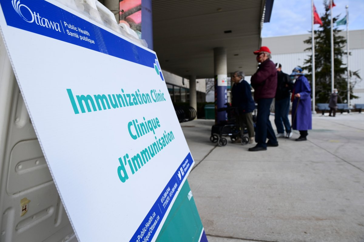 A COVID-19 vaccine pop-up clinic became a source of frustration Wednesday morning as dozens were turned away despite their neighbours getting the shot days earlier. File photo.