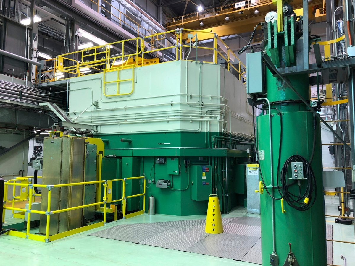 FILE - This Nov. 29, 2018 file photo shows the Transient Test Reactor at the Idaho National Laboratory about 50 miles west of Idaho Falls, in eastern Idaho.  Three Saskatchewan Indigenous-owned companies say they are in a position to support SMR development from construction to operation and maintenance.