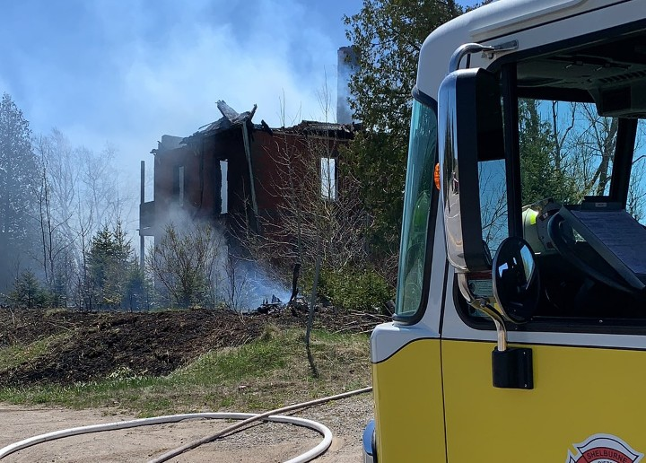 At about 1:30 p.m. Wednesday, fire crews and police attended the blaze, which took place on Highway 10 between Highway 89 and 30th Sideroad.