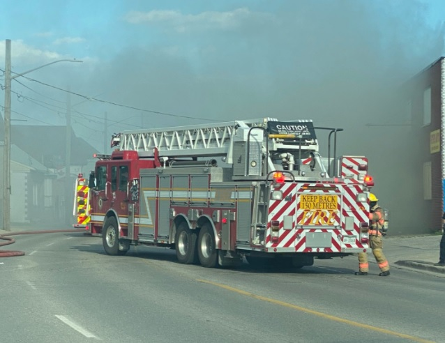 Emergency crews responded to a fire on Hamilton Road at Horton Road Sunday evening.