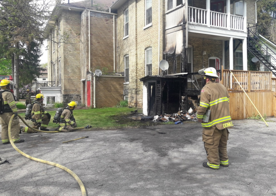 St. Thomas Fire Department says they responded to reports of a fire at the rear of Walnut Manor, located at 57 Walnut St., Shortly before 4 p.m. Wednesday.