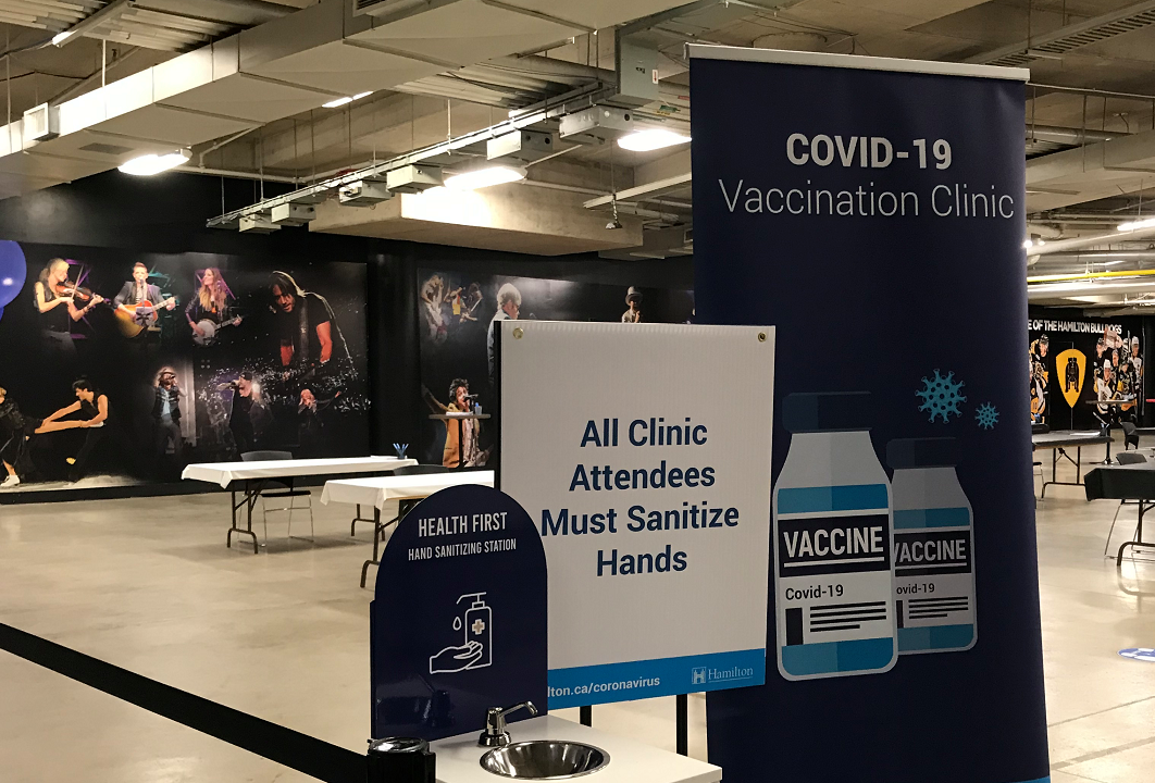 Hamilton's mass vaccination clinics were completely full when residents tried to book appointments on Tuesday, as eligibility opened up to Ontarians 18 and older.