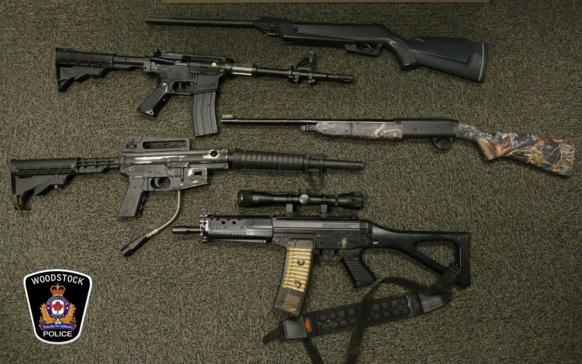 According to police, officers seized four prohibited weapons, 11 replica firearms, one handgun, two shotguns, five rifles, over 1000 rounds of ammunition.