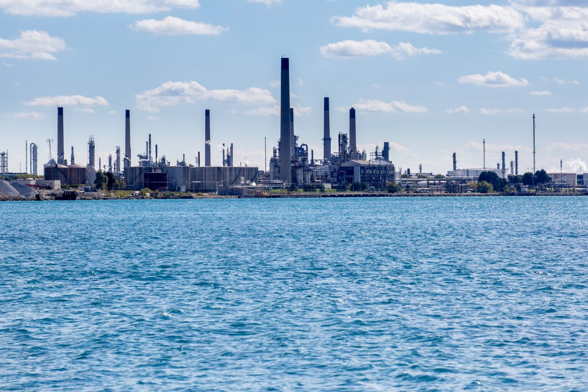 FILE - Sarnia's Chemical Valley.