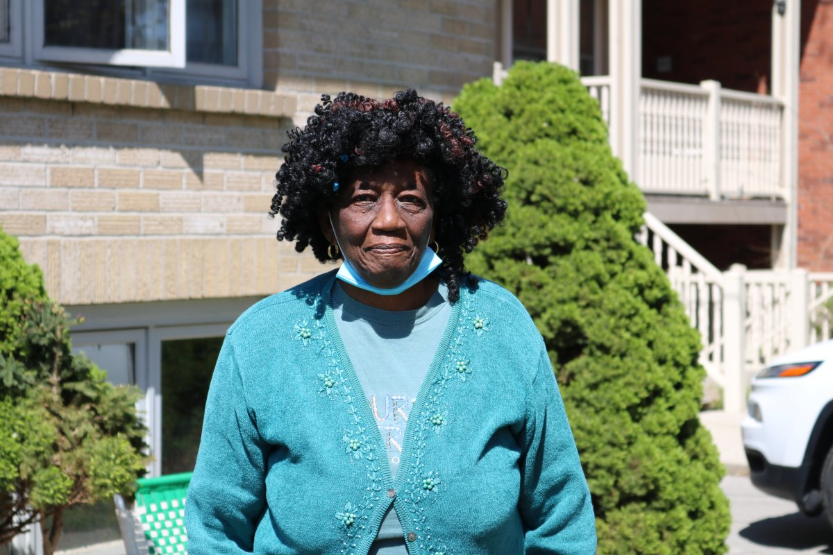 Shirley Roberts, 79 has lived in the same rental unit in a home on Queens Avenue in London Ont. for the last 12 years. May 1, 2021.