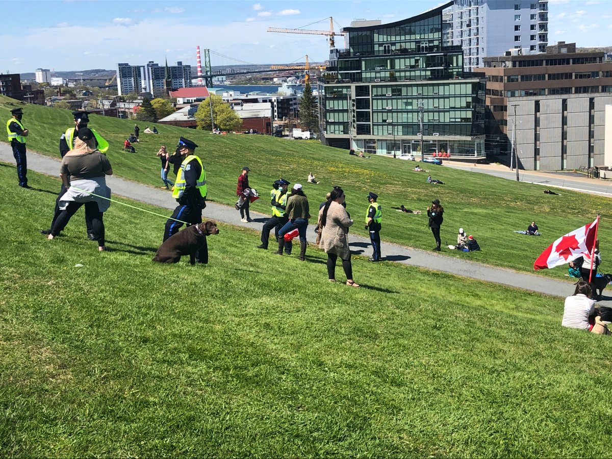 Halifax police arrested a number of people on Citadel Hill during a rally on May 15.