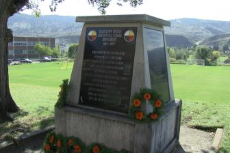 Kamloops Indian Residential School marker