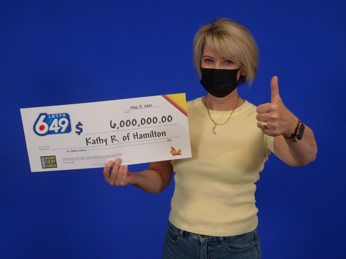 Kathy Roksa of Hamilton won the $6 million jackpot in the March 20 LOTTO 6/49 draw.