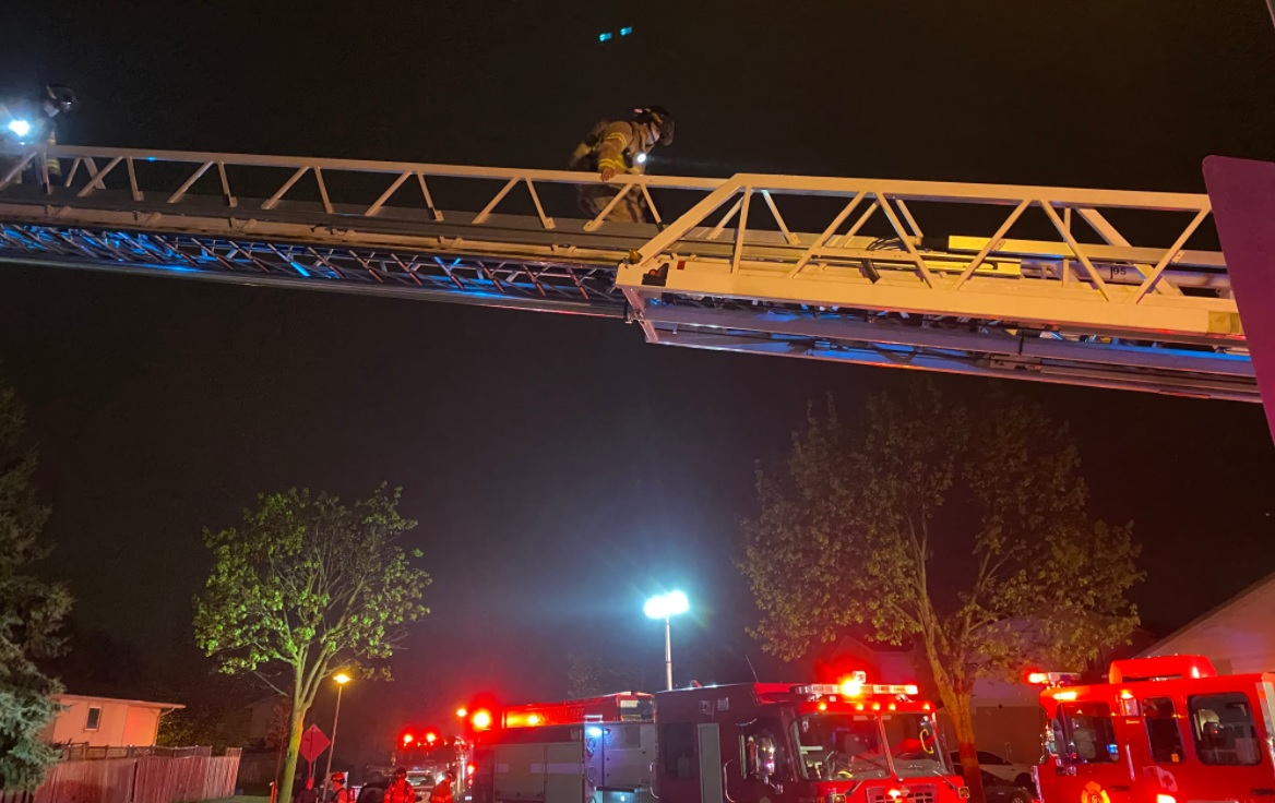 Fire crews responded to a two-storey home on Bonaventure Drive just after midnight.