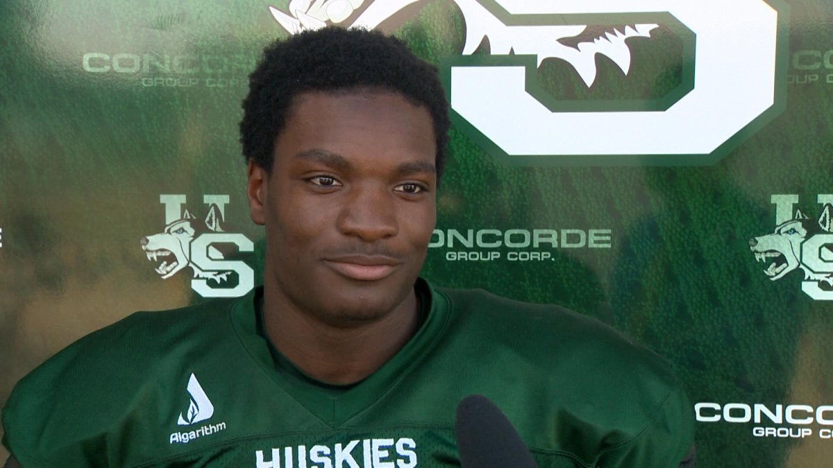 The Saskatchewan Roughriders selected Nelson Lokombo with their first pick of the 2021 CFL draft.