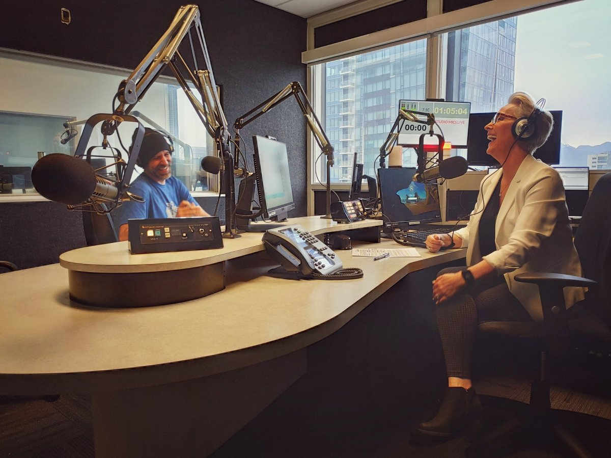 Lynda and Eric on the air at CKNW headquarters.