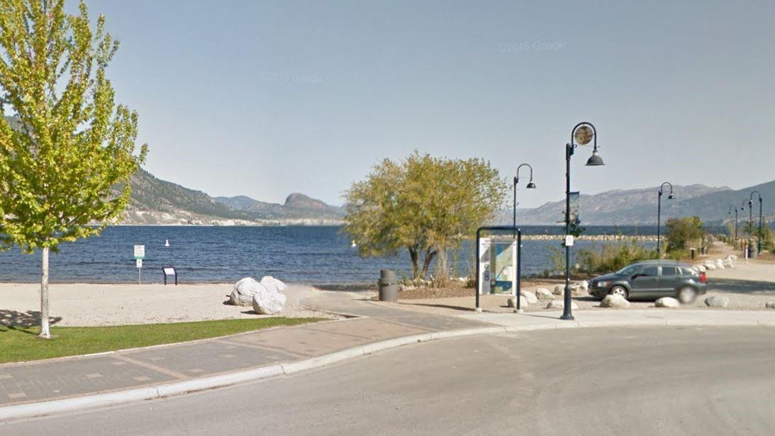 Marina Way Beach in Penticton, B.C.