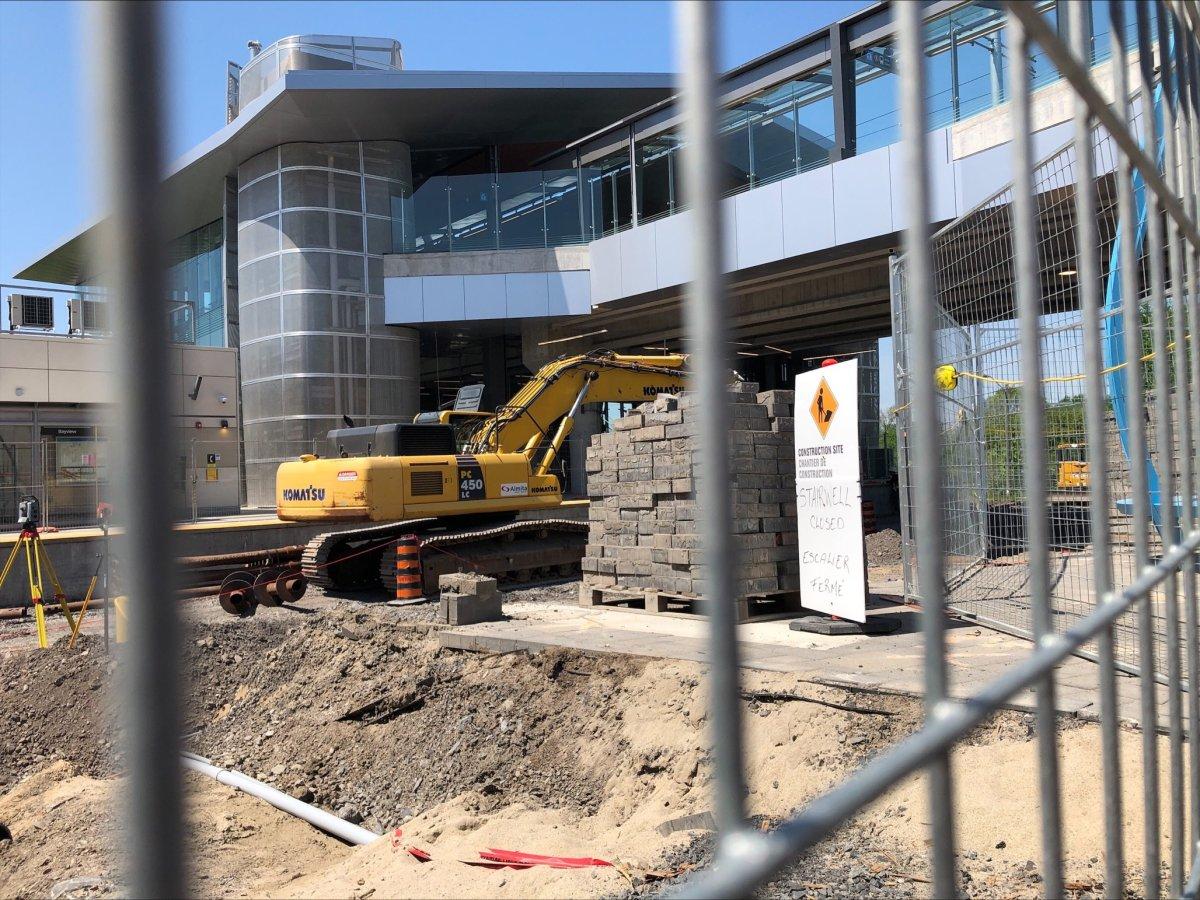 Bayview Station LRT construction