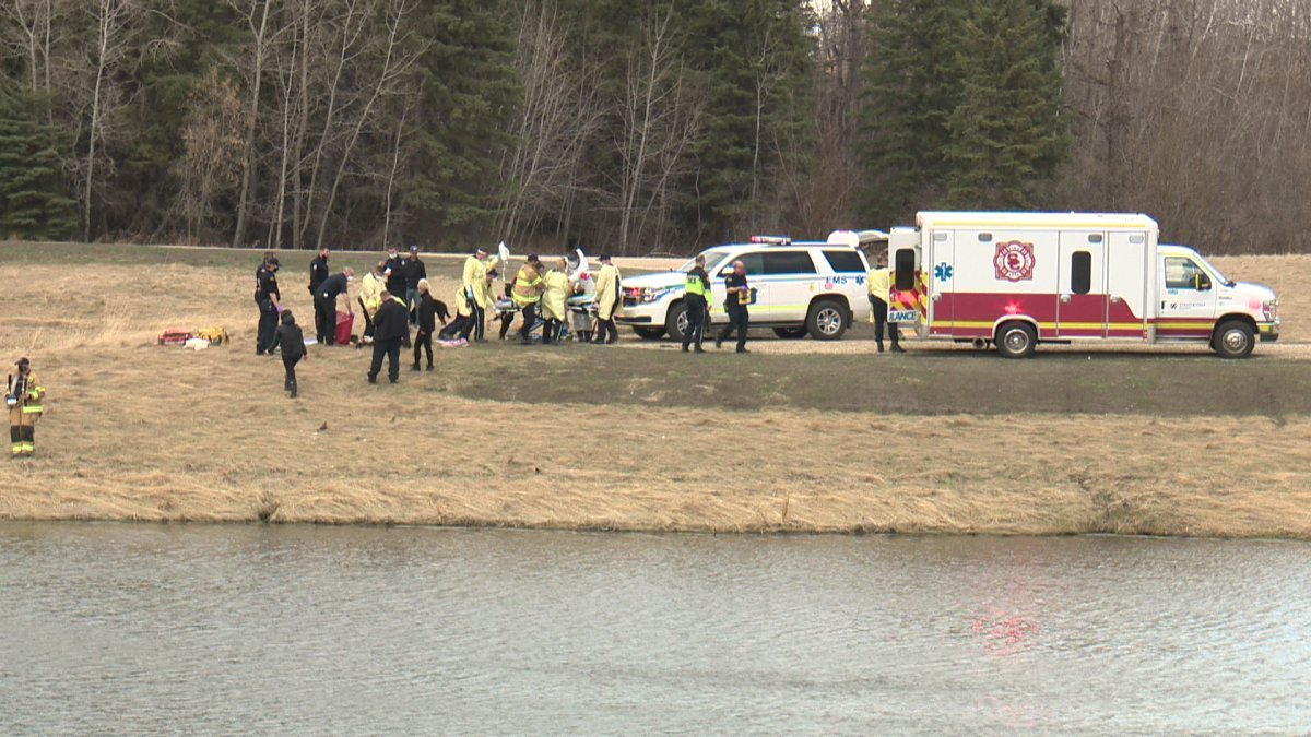 One person taken to hospital Saturday afternoon, after emergency crews responded to a possible drowning in southwest Edmonton.
