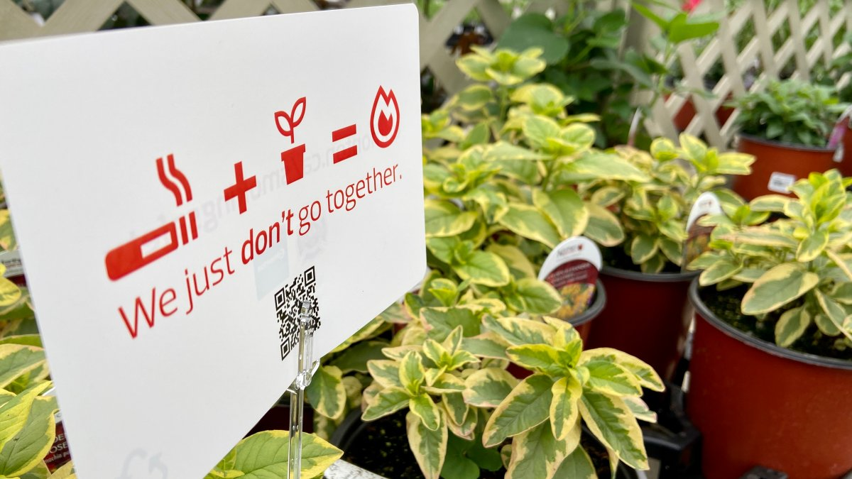 Edmonton Fire Rescue Services warns of the dangers of putting out cigarettes in potted plants.