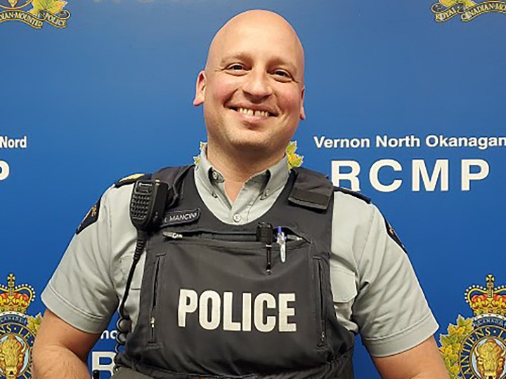 RCMP Staff Sergeant Steven Mancini will supervise policing operations in the communities of Armstrong, Enderby, Falkland, Lumby and Spallumchen.