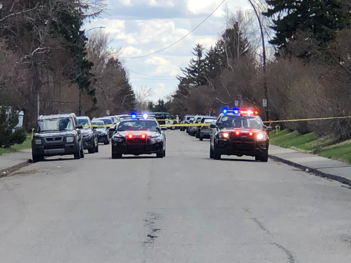 Calgary police on the scene of a shooting in northwest Calgary which sent a man to hospital.