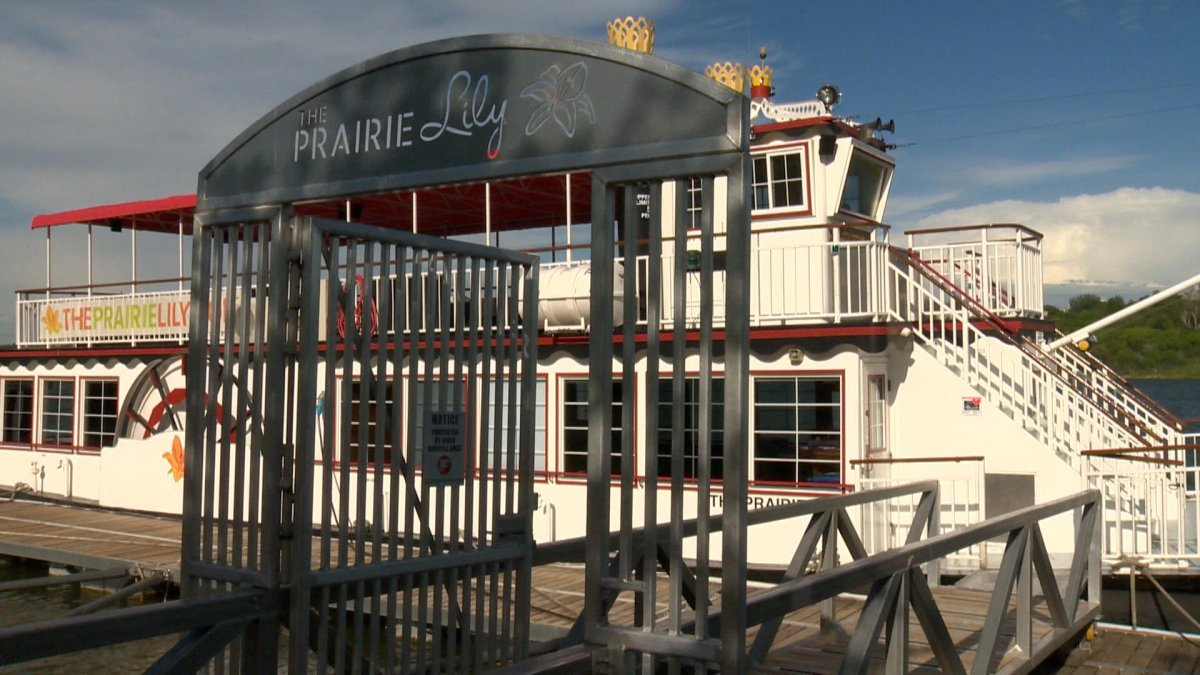 The Prairie Lily Riverboat on the South Saskatchewan River in Saskatoon.