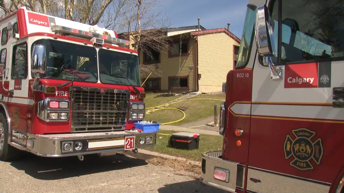 A man was hospitalized after a house fire in northwest Calgary.