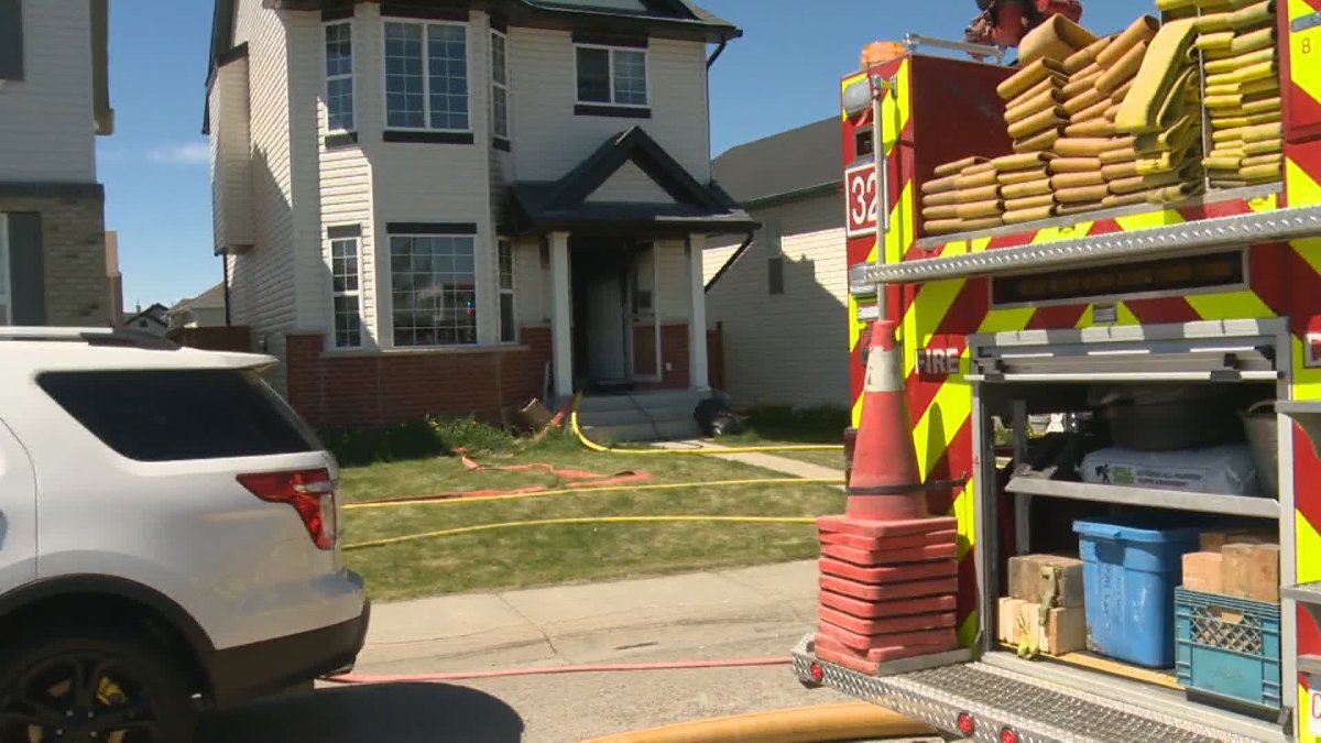 Calgary crews responded to a fire in Saddle Ridge on Sunday, May 30, 2021.