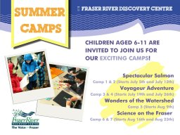 Continue reading: Summer Camps at the Fraser River Discovery Centre!