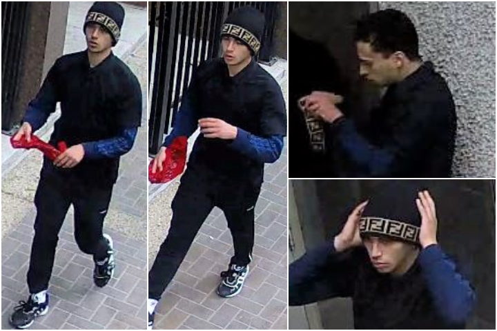 Calgary police released these images of the person they believe may be responsible for robbing several people downtown Calgary on Monday, May 10, 2021, and Wednesday, May 12, 2021.