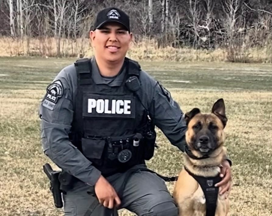 K-9 handler Travis Assiniboine and new recruit Zion are taking on an intensive training course together.