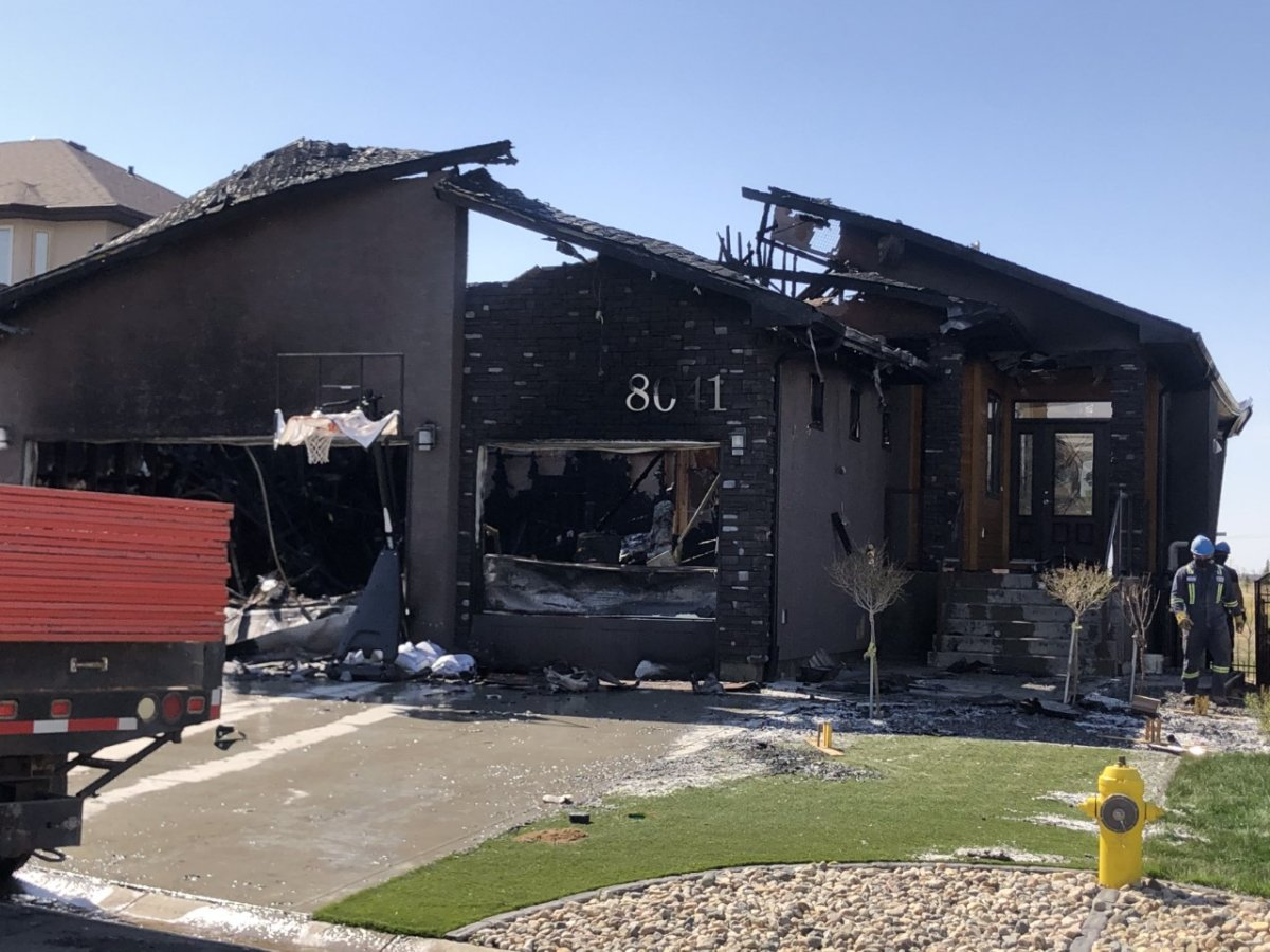 The cause and damage estimate for a fire on Edgewater Bay is still being investigated.