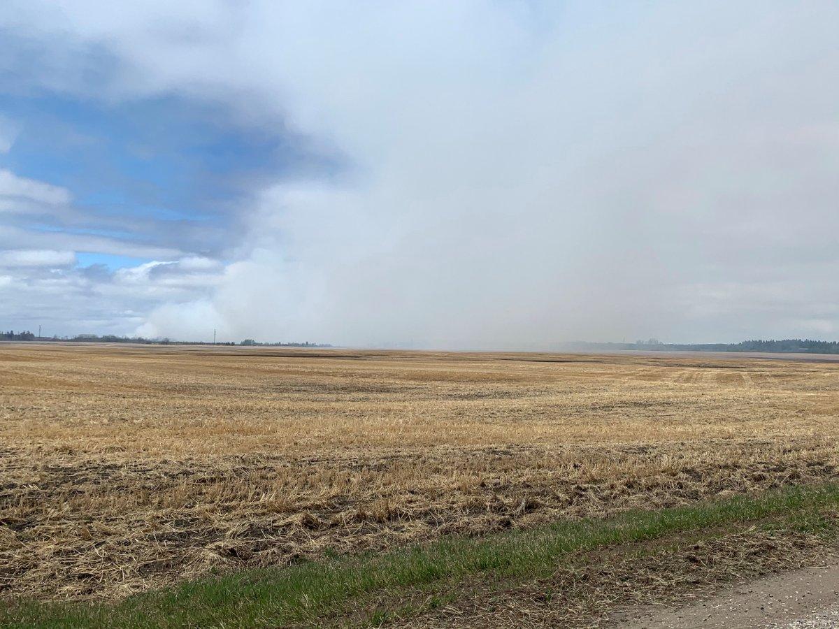 The Cloverdale wildfire burns northeast of Prince Albert.