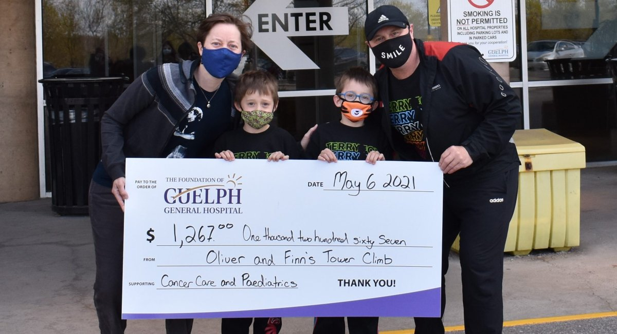 Guelph brothers Oliver and Finn raised over $1,200 for Guelph General Hospital.