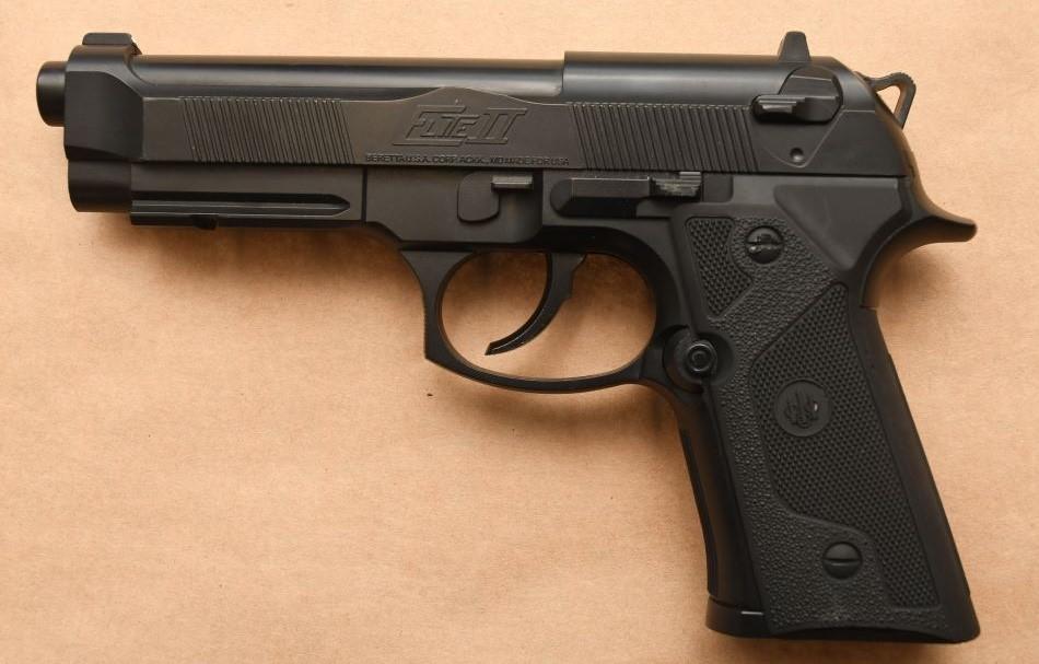 Firearm seized by police.