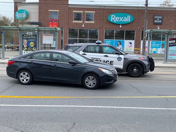 Police on scene of a shooting on Lake Shore Boulevard West and Thirty Seventh Street in south Etobicoke.