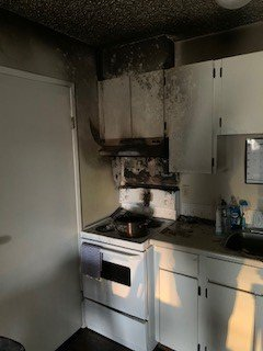 A kitchen fire led to $20,000 in damages and resulted in one person being taken to hospital in Saskatoon Sunday morning for smoke inhalation.