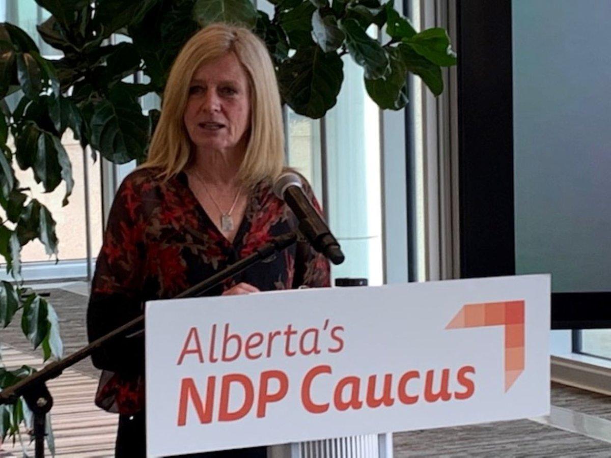 Alberta NDP Leader Rachel Notley speaks in Edmonton Monday, May 3, 2021.