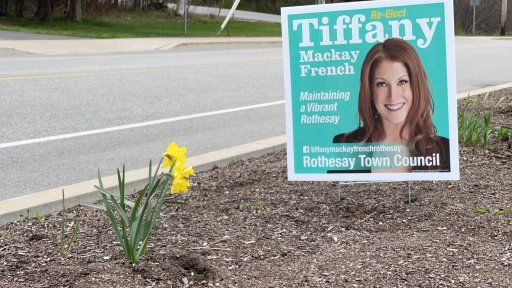 Tiffany Mackay French says a man who saw her campaign signs began harassing her.