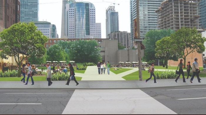 A rendering of the new park in Toronto.