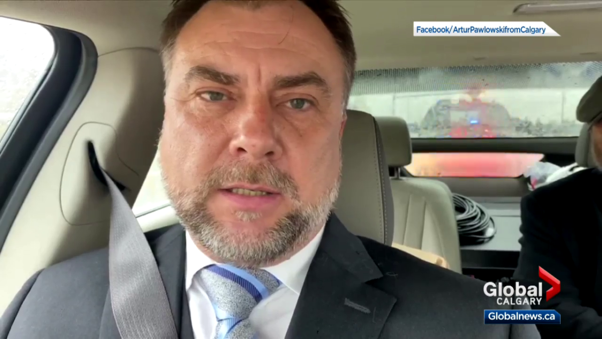 Artur Pawlowski speaks in a video recorded on Saturday, May 8, 2021, as he and his brother Dawid are arrested.
