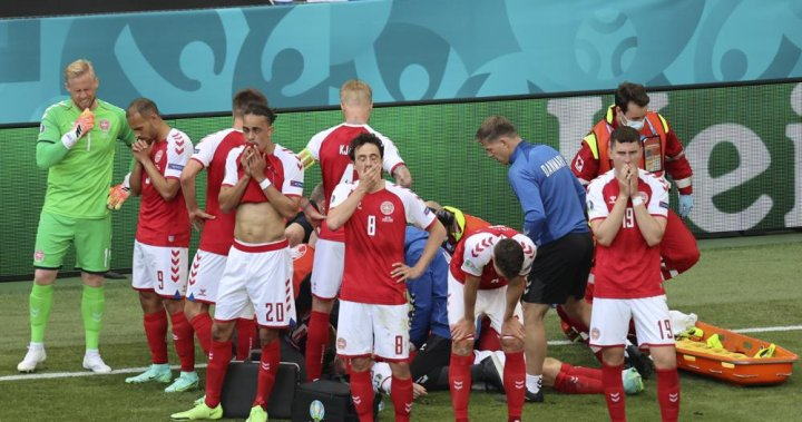 Denmark soccer player Christian Eriksen stable in hospital after collapsing during match