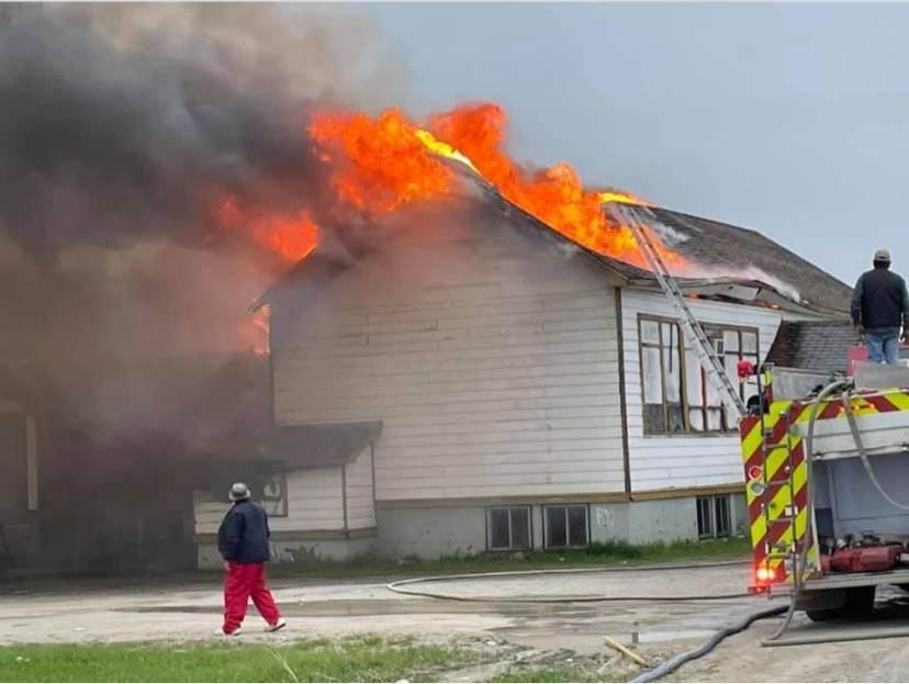 A security guard first noticed the fire around 5:45 a.m. Thursday.