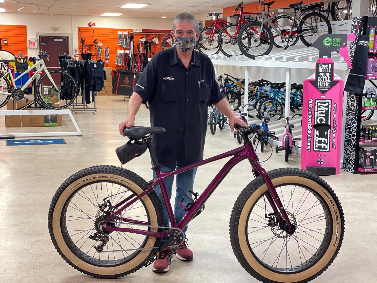 Jim Goguen, owner of Jim's Bike Shop .