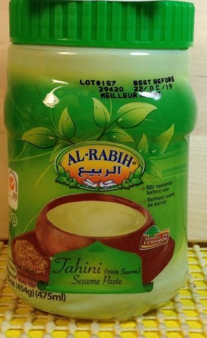 Al-Rabih brand Tahini recalled.