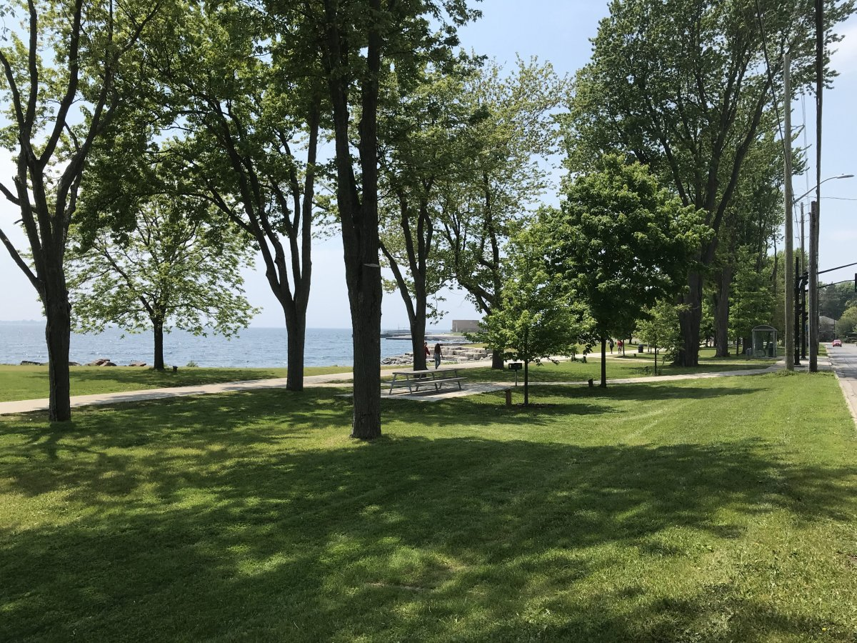Fencing around Kingston's Breakwater Park has been removed, but fences around the beach at the Gord Edgar Downie Pier will remain up until phase one of Ontario's reopening plan.