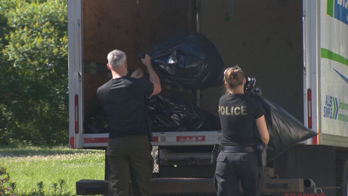 Provincial police teams raided 16 buildings Wednesday morning, including residences and vehicles, in what officials are calling a drug trafficking ring selling cannabis online.