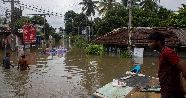 6 dead, 5 missing as floods and mudslides hit Sri Lanka