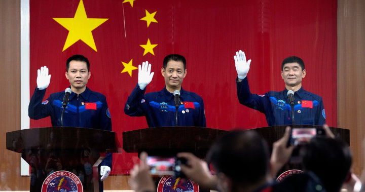 First crew of new Chinese space station express confidence ahead of Thursday launch