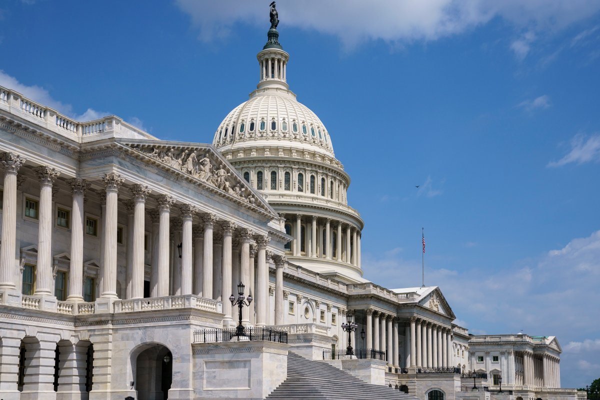 FILE - In this June 14, 2021, file photo the U.S. Capitol is seen in Washington as the House and Senate return to work.