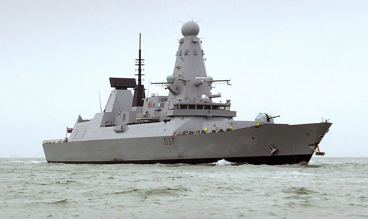 FILE -- This undated Ministry of Defence handout shows the HMS Duncan, a Type 45 Destroyer for the Royal Navy.