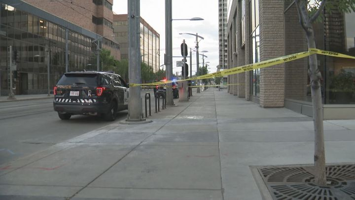 Police are investigating after they say a person was seriously injured in a stabbing near a Calgary CTrain station on Friday night.